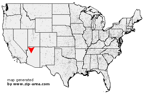 Location of Ash Fork
