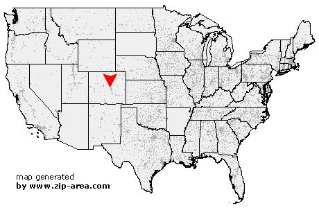 Location of Green Mountain Falls