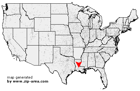 Location of Opelousas
