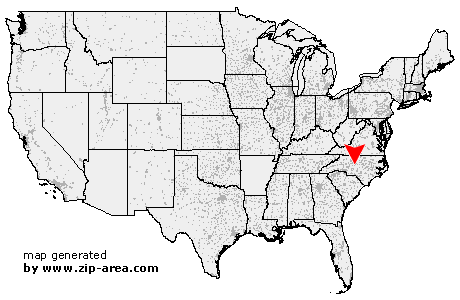 Location of Asheboro