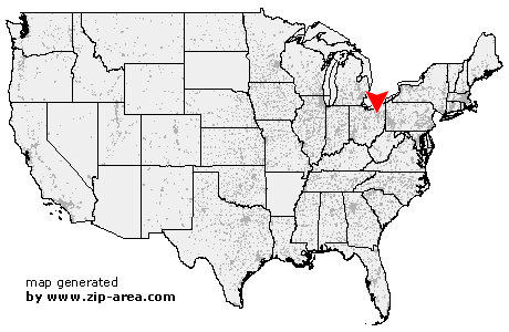 Location of Akron