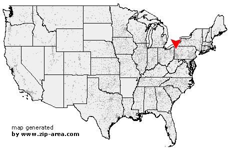 Location of Clarks Mills