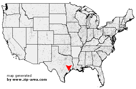 Location of Angleton
