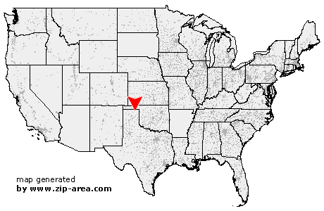 Location of Perryton