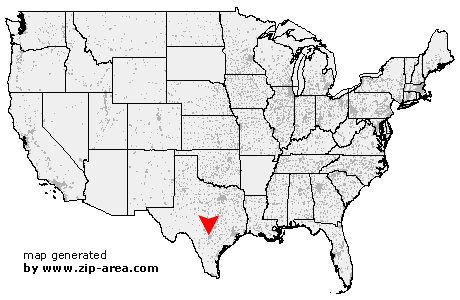 Location of San Antonio