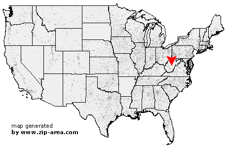 Location of Camden on Gauley