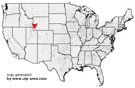 map of wyoming and surrounding states. on the map and you will