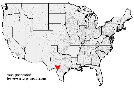 Location of La Pryor